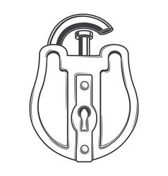 Antique Lock vector image