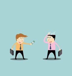 Businessman trading fail vector image vector image