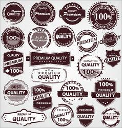 grunge vintage quality labels vector image