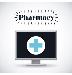 Pharmacy store design vector