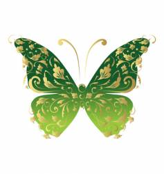 butterfly ornate for your design vector image vector image