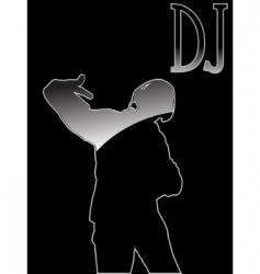 club Dj vector image vector image