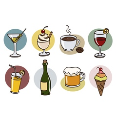 drink set vector image vector image
