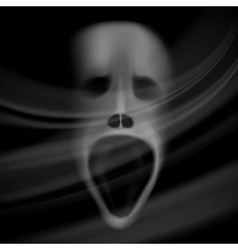 ghost face vector image vector image
