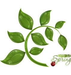 green branch tree vector image vector image