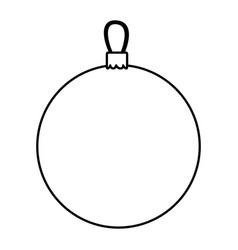 silhouette circular garland christmas decorative vector image vector image