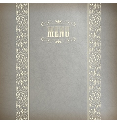 Vintage Abstract Retro Lace Banner Background vector image vector image