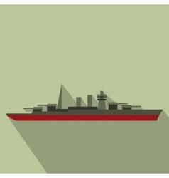 Warship flat icon vector image