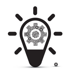 bulb with cogs - vector image