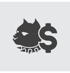 Dog fighting bet icon vector image