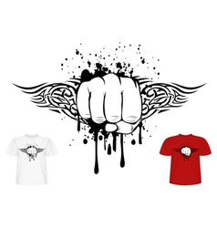 fist and tribal vector image