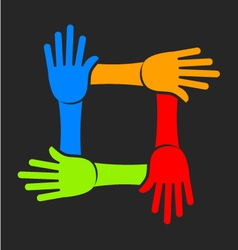 Four Hands Team Logo vector image vector image