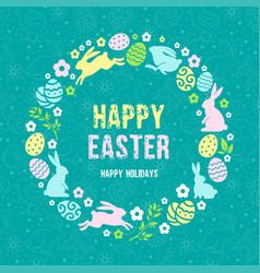 happy easter congratulation vector image