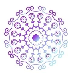 Mehendy mandala flower vector image vector image