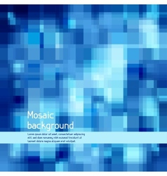 Mosaic abstract high-tech background vector image vector image