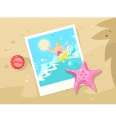 Photos surfer on the a wave crest vector image