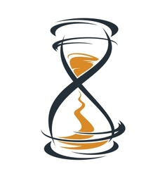Sketch hourglass timer vector image vector image