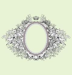 Vintage floral decorative border frame element vector image vector image