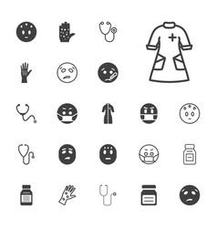 22 sick icons vector