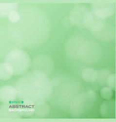 abstract of soft bokeh pattern on gradient green vector image