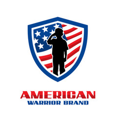 american army shield logo vector image