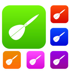 arrow to play dart set color collection vector image