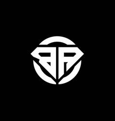 Ba monogram logo with diamond shape and ring vector