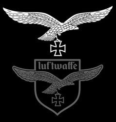 badge german air force eagle with vector image