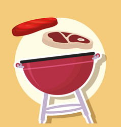 Bbq grill icon vector