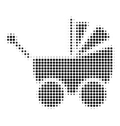 Black dot baby carriage icon vector