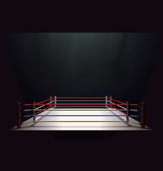Boxing ring isolated on black abstract background vector