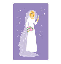 Bride in Wedding Dress vector image