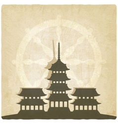 Buddhist temple old background vector image
