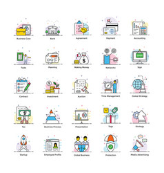 business and marketing flat icons vector image