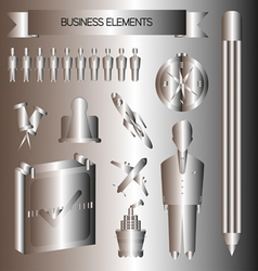 Business infographic with rocket plane ship and a vector