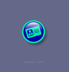 business pass icon baidge glossy button vector image