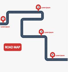 Car road map vector