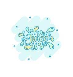 cartoon juice icon in comic style juice drink vector image