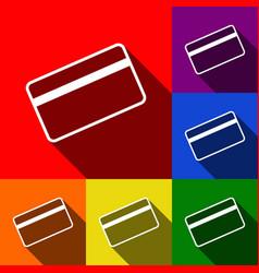 credit card symbol for download set of vector image