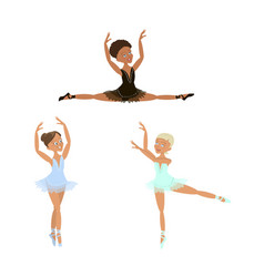 cute little ballerinas set vector image