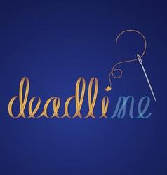 deadline vector image