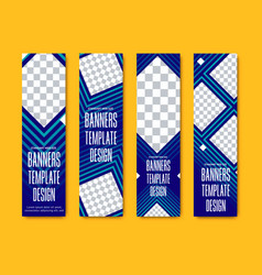 design vertical web banners with squares and vector image