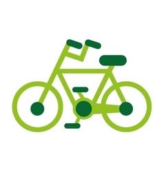eco bicycle bike green icon vector image vector image