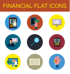 financial flat icon vector image