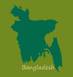 Flag and map of bangladesh vector