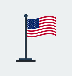 flag of united-statesflag stand vector image