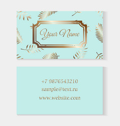 floral business card templates fashion cards on a vector image