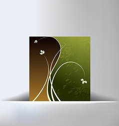 Floral Green Slit Background vector image