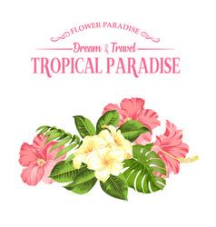 Flower paradise summer vector