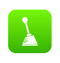 gear stick icon digital green vector image
